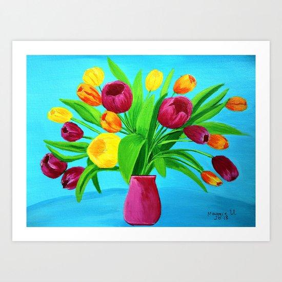 Tulips for Easter Art Print