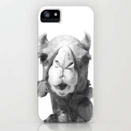 Black and White Camel Portrait iPhone Case