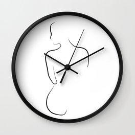 Female Form Line Art - Almost Alexa Wall Clock