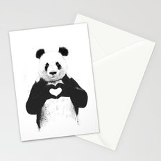 All you need is love Stationery Cards