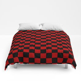Checkers - Black and Red Comforters