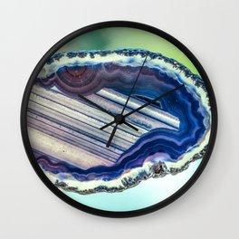 Blue purple geode Wall Clock
