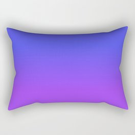 Neon Purple and Bright Neon Blue Ombré Shade Color Fade Rectangular Pillow
