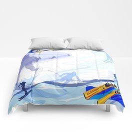 Downhill Skiing Comforters