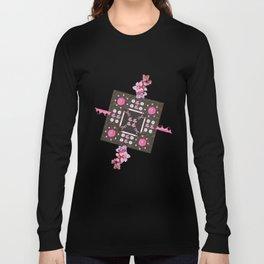 Breast Cancer Survivor Kaleidoscope Art Long Sleeve T-shirt
