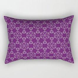 Hexagonal Circles - Elderberry Rectangular Pillow