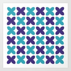 Pattern of flowers Art Print