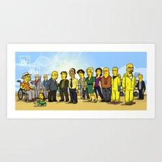 Breaking Bad cast Art Print