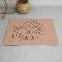 Shy Flower Girl Rug