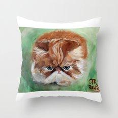 Grumpy Persian Throw Pillow