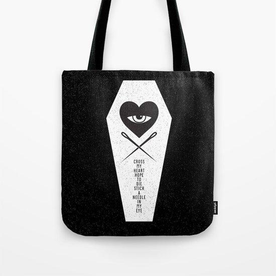 CROSS MY HEART Tote Bag