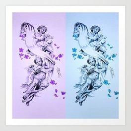 Baby Angels Art Print