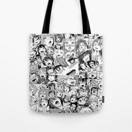 Ahegao Hentai Girls Anime Collage Tote Bag