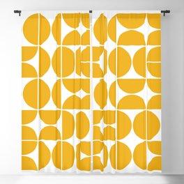 Mid Century Modern Geometric 04 Yellow Blackout Curtain