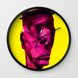 LOW POLY A JAZZ MAN Wall Clock
