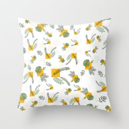 Wall Garden Throw Pillow