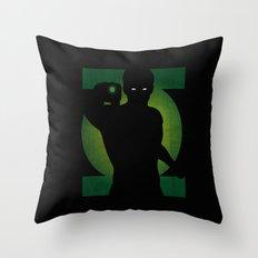 SuperHeroes Shadows : Green Lantern Throw Pillow