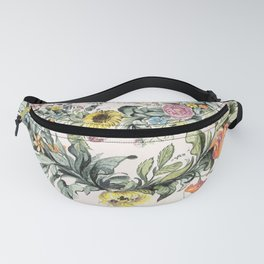 Circle of life- floral Fanny Pack