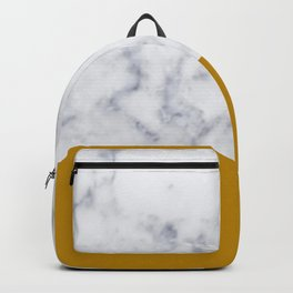 Marble Mustard yellow Color block Backpack