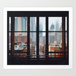 New York City Window Art Print