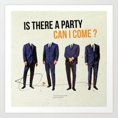 Is There a Party Can I Come | Collage Art Print