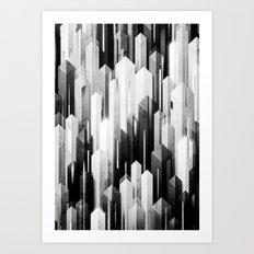 obelisk posture 3 (monochrome series) Art Print