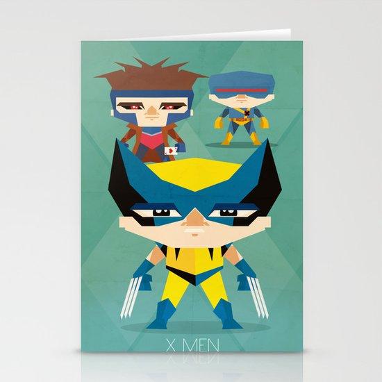 X Men fan art Stationery Cards