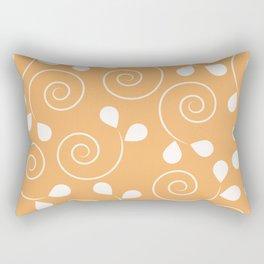 Early Spring Sun Orange Pattern Rectangular Pillow