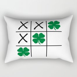 Shamrock Tic Tac Toe Rectangular Pillow