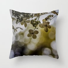 Dry hydrangea Throw Pillow