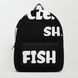 Fish Tank Cleaning graphic I Aquarium Cleaning Gift design Backpack