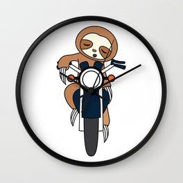 """""""Sloth Riding Motorcycle"""" for street poopers out there! Makes a nasty gift too this holiday!  Wall Clock"""