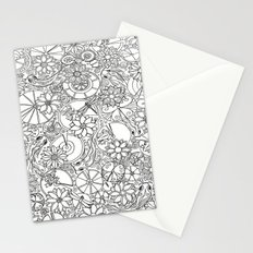 Koi Pond Coloring Page Stationery Cards