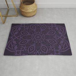 Elegant royal purple mandala - tone on tone Rug