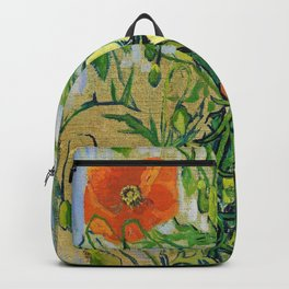 Vincent van Gogh - Butterflies And Poppies - Digital Remastered Edition Backpack