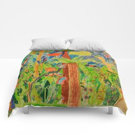 Paradise Delight | Kids Painting by Elisavet Comforters