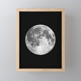 Full Moon print black-white photograph new lunar eclipse poster bedroom home wall decor Framed Mini Art Print