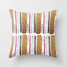 Make do and Mend pattern Throw Pillow