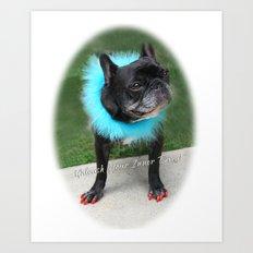 Diva Dog Art Print