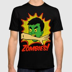Zombies! Mens Fitted Tee Black LARGE