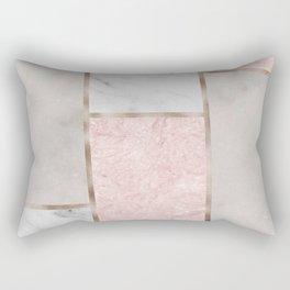 Pink stones - rose gold adorns Rectangular Pillow
