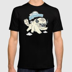 My Little Sky Bison  Mens Fitted Tee Black X-LARGE