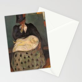 Edvard Munch - Inheritance - Digital Remastered Edition Stationery Cards