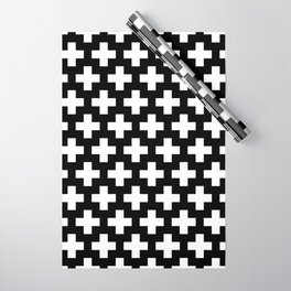 Swiss Cross W&B Wrapping Paper