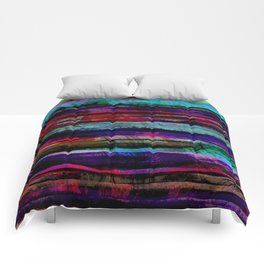 bohemian abstract painting Comforters