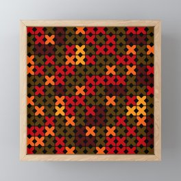 An abstract geometric pattern . Rustic . Framed Mini Art Print