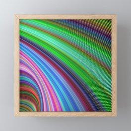 Striped Vortex Framed Mini Art Print