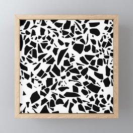 Terrazzo Black on White Framed Mini Art Print