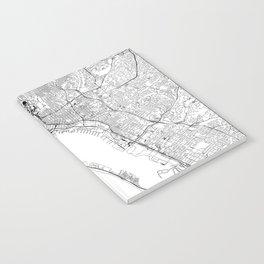 San Diego White Map Notebook