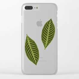 green foliage Clear iPhone Case